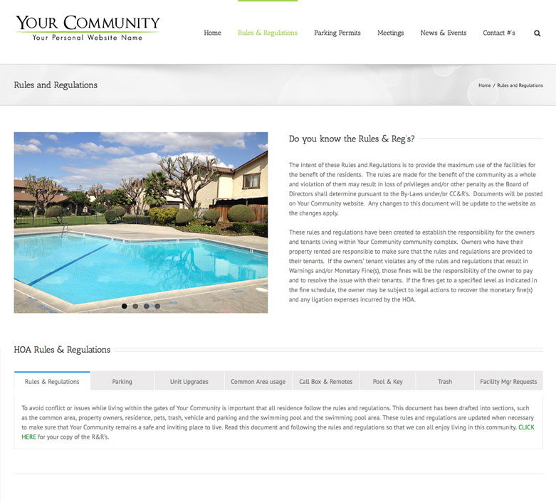 HOA Website