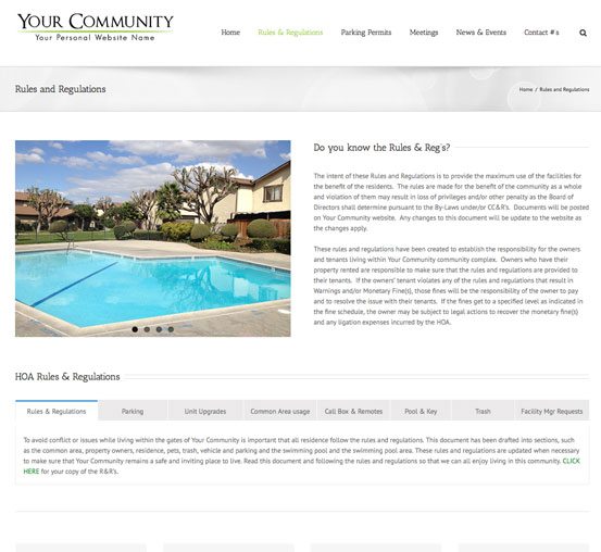 HOA Websites