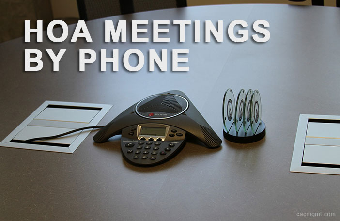 Can we have a HOA meeting by phone?